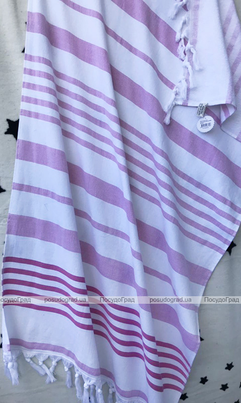 Полотенце пляжное Art of Sultana Pink Stripes 90х170см