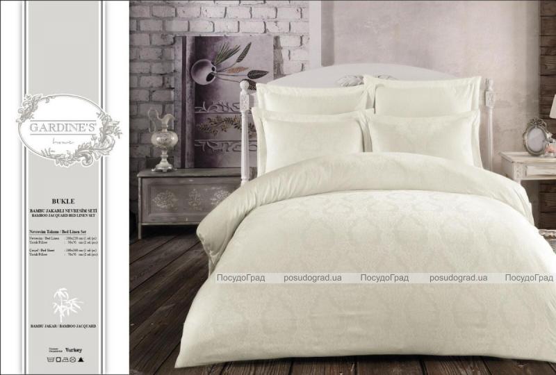 Комплект постельного белья Gardine's Bukle Krem (Евро), жаккард