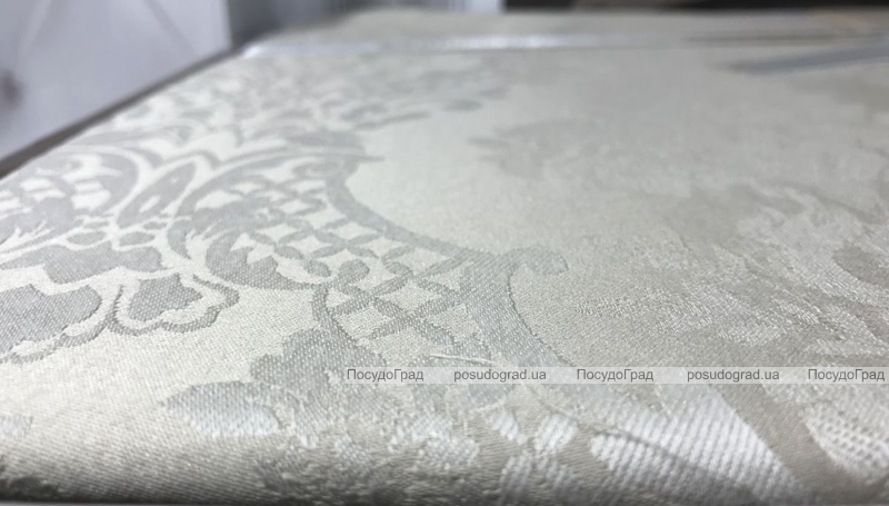 Комплект постільної білизни Gardine's Bukle Bej (Євро), жаккард