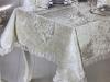 Набор для сервировки Gelin Home Zara Bej скатерть 160х220см, дорожка, салфетки и кольца (велюр)