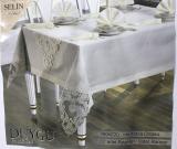 Набір для сервірування Selin Duygu Beige скатертина 160х220см, доріжка, серветки і кільця