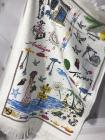 Набір 12 кухонних рушників By IDO Antalya Summer 40х60 махра/велюр