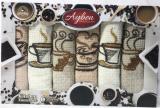 Набір 6 кухонних рушників Ayben «Coffee» 38х58см, вафельні
