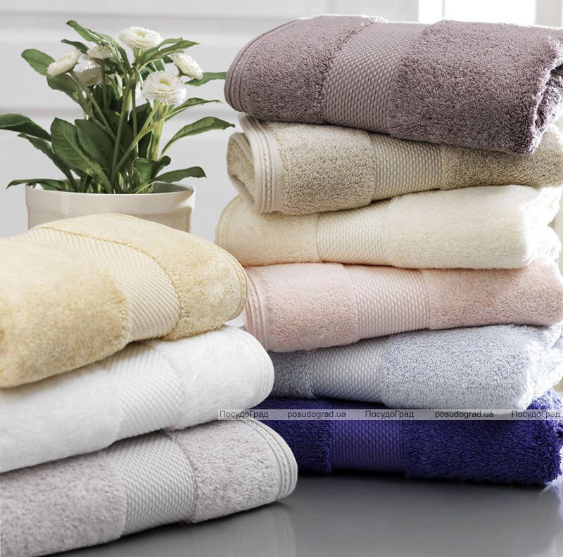 Набор 3 полотенца Soft Cotton Deluxe Kahve, махра