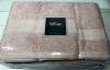 Набор 3 полотенца Soft Cotton Deluxe Pudra, махра