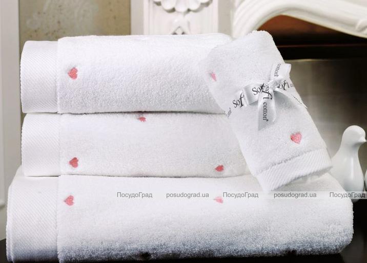 Набір 3 рушники Soft Cotton «Love Pembe», бавовна