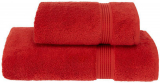 Набор полотенец Soft Cotton «Lana Kirmizi» Red банное 75х150см и лицевое 50х90см, хлопок