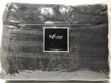 Набір 2 рушники Soft Cotton Boheme Antrasit лицьовий 50х100см та банний 85х150см, махра