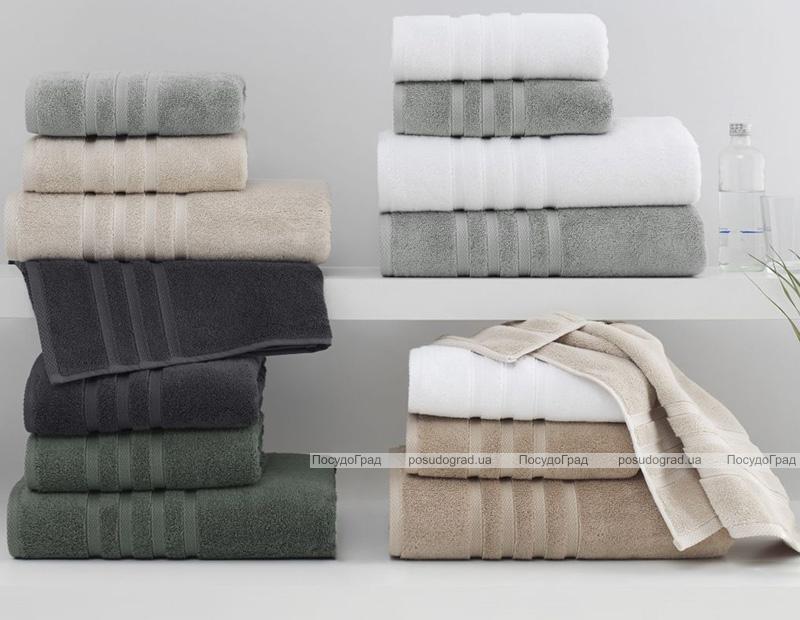 Набір 2 рушники Soft Cotton Boheme Gray лицьовий 50х100см та банний 85х150см, махра