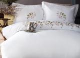 Комплект постільної білизни Pupilla Talin Erku (євро), сатин з вишивкою