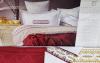 Комплект постільної білизни Pupilla Charlotte Kiremit (євро) + плед, сатин з вишивкою