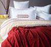 Комплект постельного белья Pupilla Charlotte Kiremit (евро) + плед, сатин с вышивкой