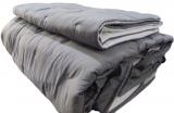 Покривало Chester Rafferty Grey 260х260см із 3 наволочками, стьобане, бавовна