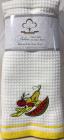 Набор 2 кухонных полотенца Sweet Dreams Meyve 40х60см, махра/вафелька