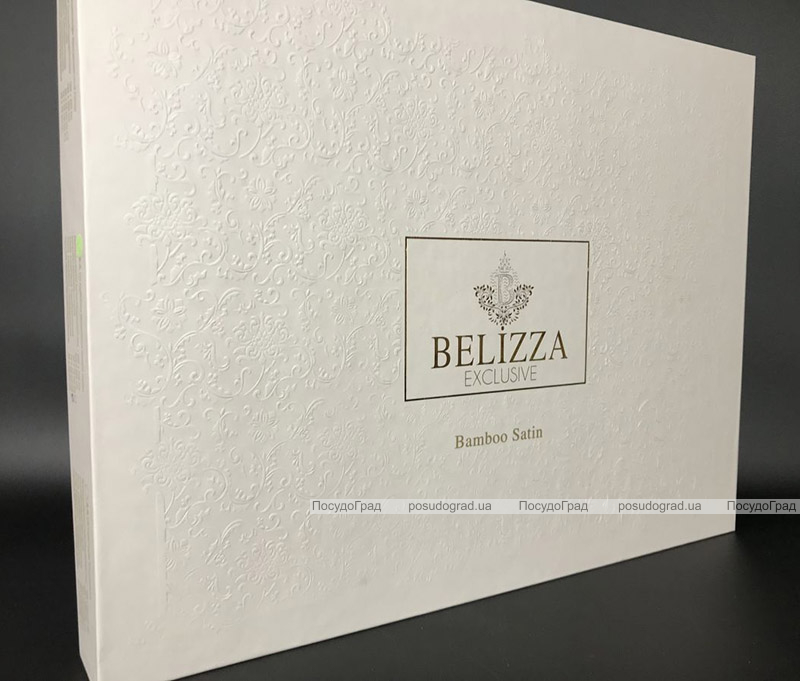 """Комплект постельного белья Belizza """"Pikon Yesil"""" (евро) сатин"""