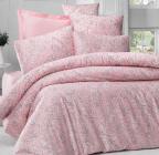 Комплект постельного белья Victoria Verona Pembe (Евро), сатин