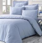 Комплект постільної білизни Victoria Line Blue (євро) страйп-сатин