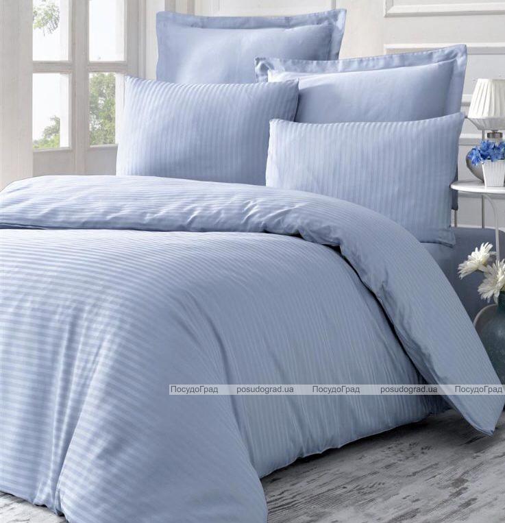 Комплект постельного белья Victoria Line Blue (евро) страйп-сатин