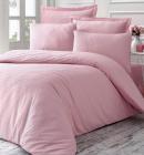 Комплект постільної білизни Victoria Line Pink (євро) страйп-сатин