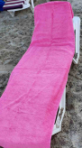 Рушник пляжний Art of Sultana Pembe 75х200см, з кишенею для шезлонга
