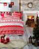 """Комплект постельного белья Belizza """"Winter Red"""" (евро), ранфорс"""