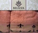 Набір 2 рушники Belizza Julia банний 70х140см і лицьовий 50х90см, махра, персиковий