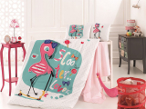 Дитяча постільна білизна Belizza «Flamingo» для новонароджених, 100% бавовна