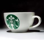 Набор 2 кофейные чашки Starbucks New logo 175мл с ложками