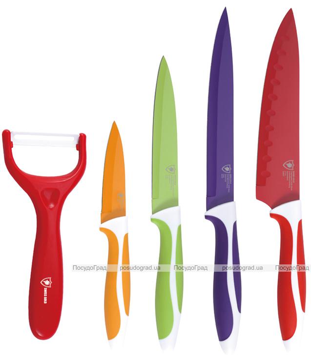 Набор ножей Swiss Gold OMNIA 5 предметов + БОНУС!