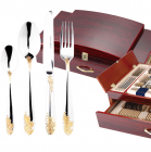 Набор столовых приборов Swiss Gold 6099 Сундук 72 предмета на 12 персон