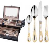 Набор столовых приборов Swiss Gold 8000 Сундук 72 предмета на 12 персон