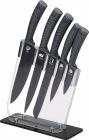 Набір 5 кухонних ножів San Ignacio Grey на акриловій підставці