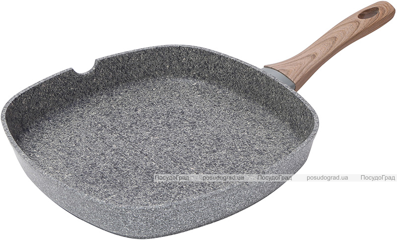Сковорода-гриль Bergner Neuss 28х28х4.5см алюминиевая с гранитным антипригарным покрытием