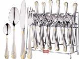 Набор столовых приборов Swiss Home 6480 6 персон 24 предмета на подставке