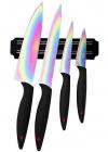Набор ножей Swiss Home Titanium 4 ножа с титановым покрытием и магнитная планка
