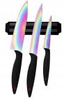 Набор ножей Swiss Home Titanium 3 ножа с титановым покрытием и магнитная планка