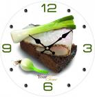 """Часы настенные """"Закусочные"""" Ø28см стеклянные"""