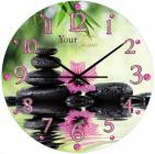 """Часы настенные """"Цветочная Гармония"""" Ø28см стеклянные"""