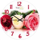 """Часы настенные """"Розовая гармония"""" Ø28см стеклянные"""