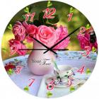 """Часы настенные """"Нежные Розы"""" Ø28см стеклянные"""
