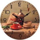 """Часы настенные """"Кофемолка"""" Ø28см стеклянные"""