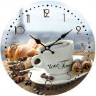"""Часы настенные """"Утренний кофе"""" Ø28см, стеклянные"""