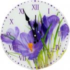 "Часы настенные ""Крокусы"" Ø28см стеклянные"