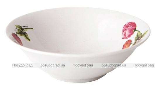 Набор 6 салатников «Красный Пион» 15см, керамика