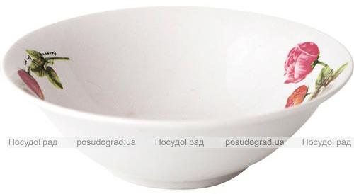 Набор 6 салатников «Красный Пион» 17.5см, керамика