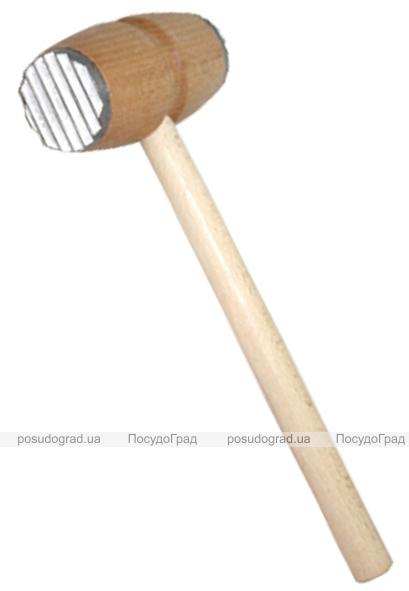 Молоток для отбивания мяса деревянный двусторонний 29см