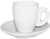"""Кавова пара """"Snow White"""" чашка 60мл і блюдце Ø11.5см, фарфор"""