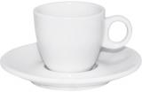 Кофейная пара Snow White чашка 90мл и блюдце Ø12.5см, фарфор