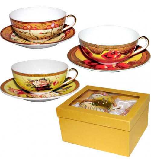 Набор чайный Silva Bowl Gold 200мл 4 предмета