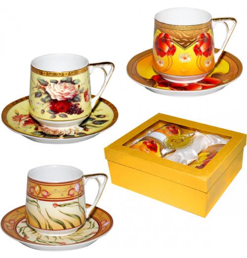 Набор чайный Silva Cup Gold 220мл 4 предмета